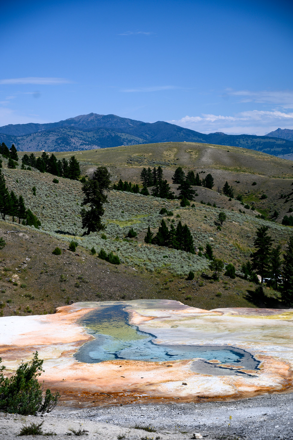 Mammoth Hot Springs in Yellowstone National Park, Wyoming