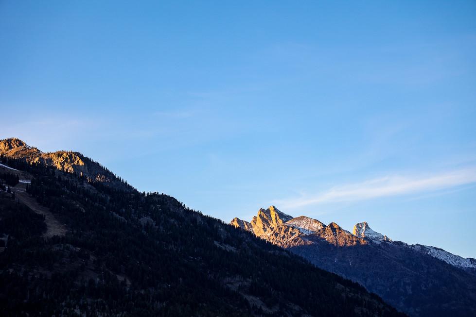 Teton Range in Teton Village, Wyoming