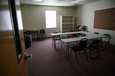 An empty classroom  at Winterville First Baptist Church in Winterville, Georgia on Sunday, May 24, 2020. While the church has started live streaming services, small group classes cannot meet in person due to COVID-19.
