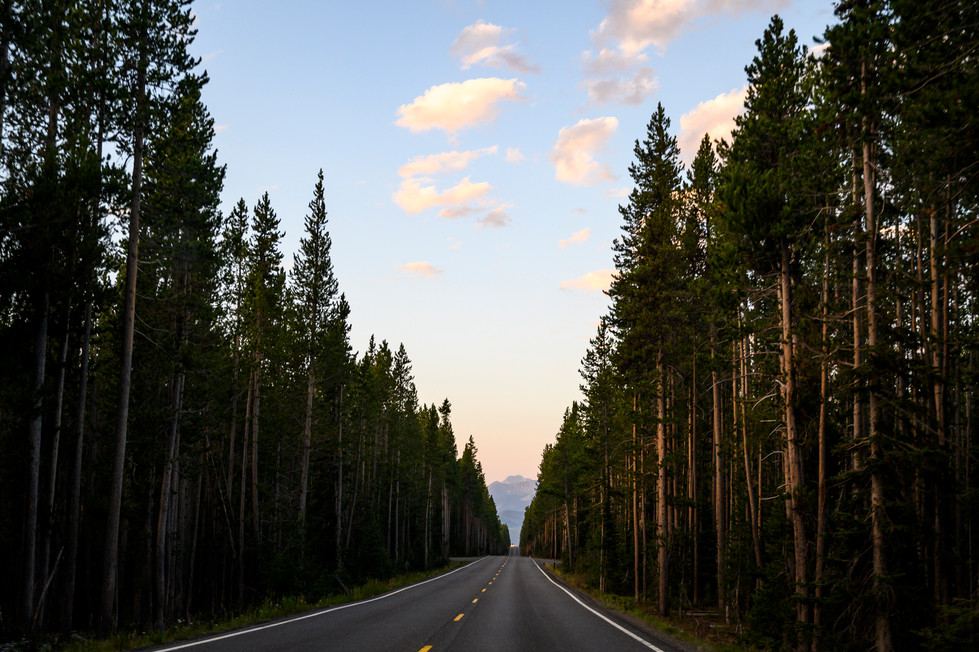 Road to Grand Teton National Park, Wyoming