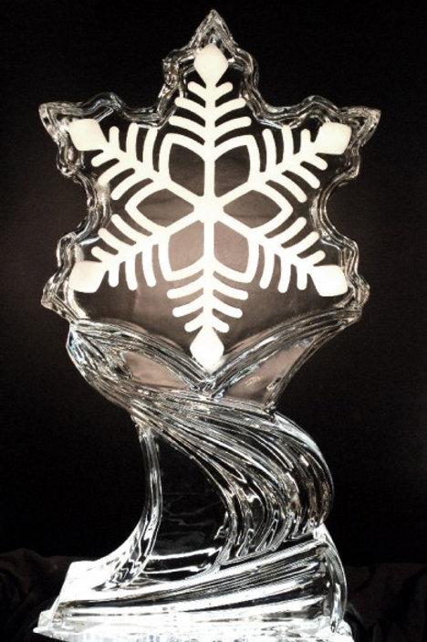 SNOWFLAKE ICE SCULPTURE