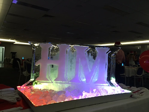 LETTERS ICE SCULPTURE