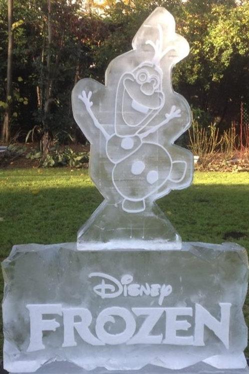 OLAF/SNOWMAN ICE SCULPTURE