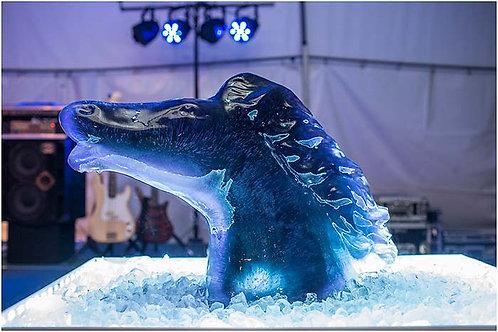 HORSE HEAD ICE SCULPTURE