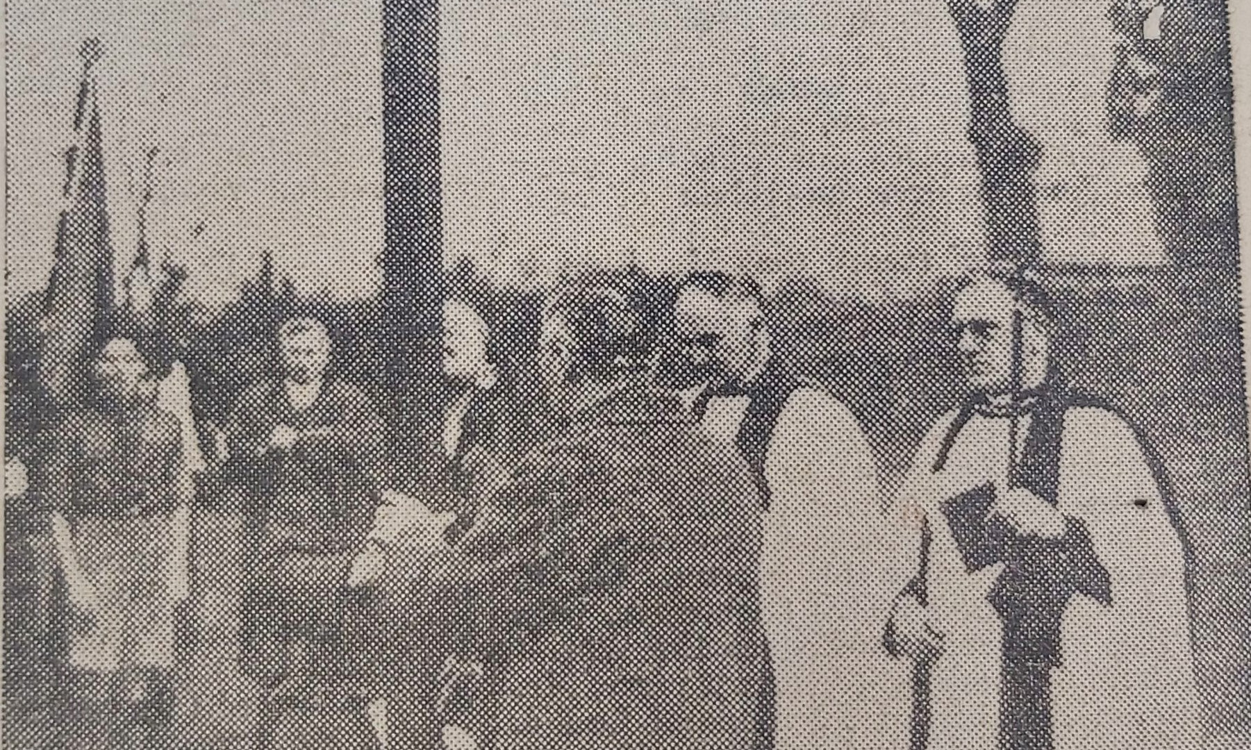 Church wardens placing cross (inc Ven A.