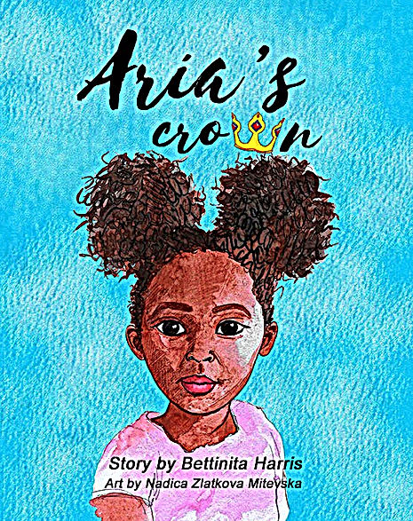Aria's Crown book cover, black girl