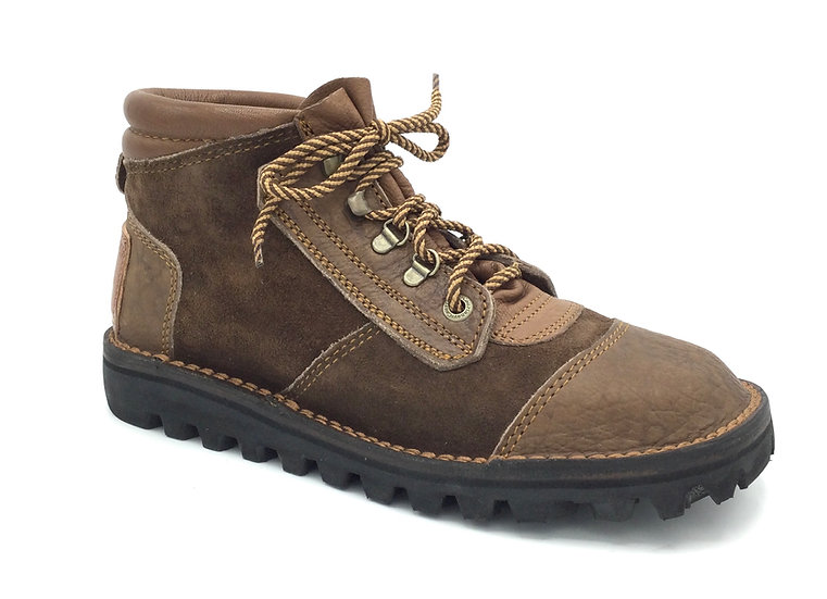 The Courteney Safari in Brown Kudu Suède with Leather Facing