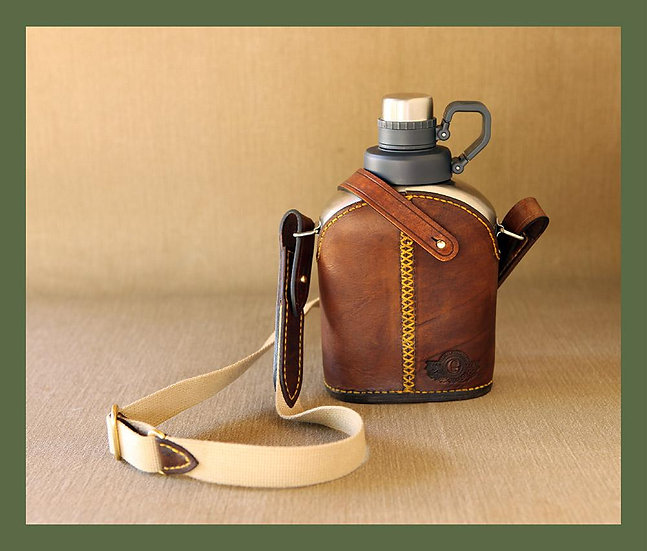 Els & Co The Diepkloof Water Canteen with leather sleeve