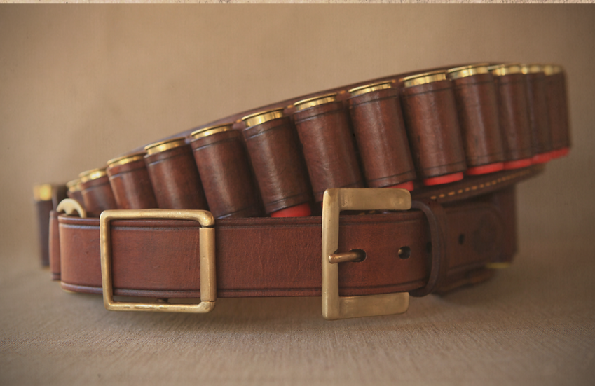 "Els &Co handmade ""The Rouxville"" Leather Shotgun Cartridge Belt"