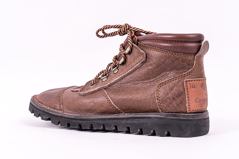The Courteney Safari boots MEN in brown buffalo leather