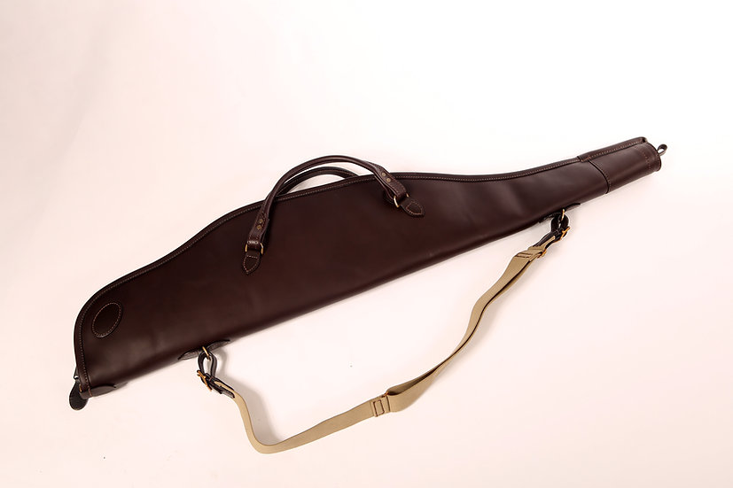 Rifle Slip in Dark Brown Leather
