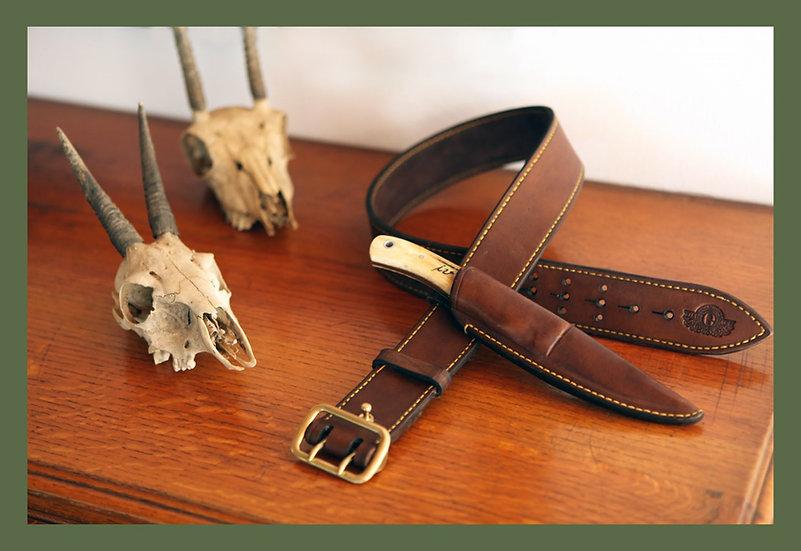 Els & Co Sam Brown / hogsback Hunting Belt in Leather Handmade Safari Supplies
