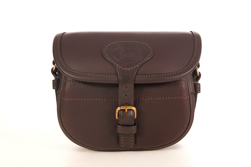 Cartridge Bag in Dark Brown Leather