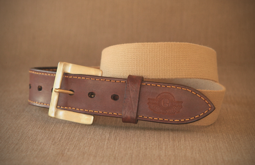 Els & Co Middelburg Canvas and leather Waist Belt