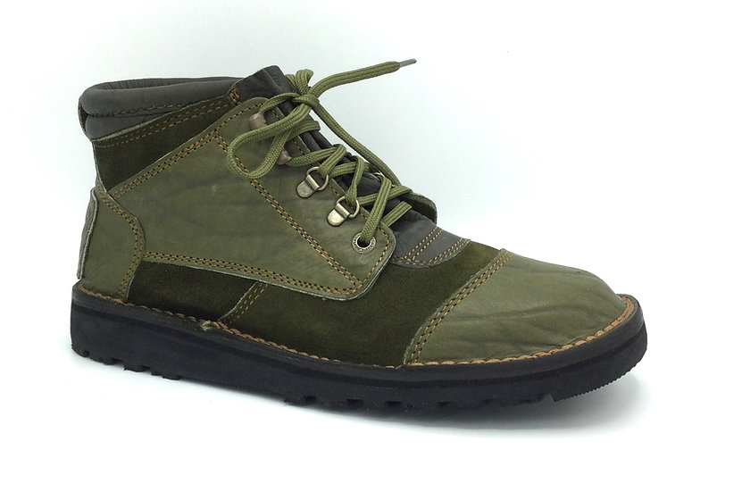 Courteney Impi in Olive Suede with leather facing Cleat Sole