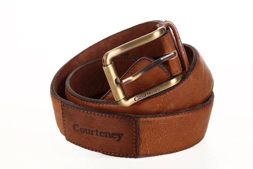 Courteney Belt in tan Buffalo leather