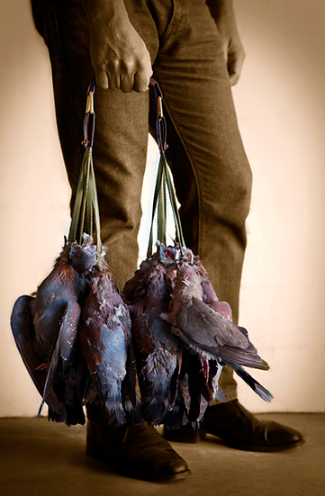 Els & Co Leather Barbeton Pigeon / Game carrier Handle