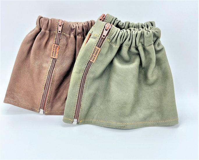Safari gaiters Long with zipper (brown / green)