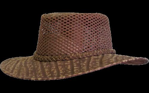 Buffalo Leather Safari Hat with Ventilation - Safari Supplies
