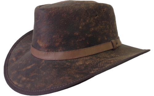 Gnu Wildebeest Leather Safari Hat with Leather Band Safari Supplies