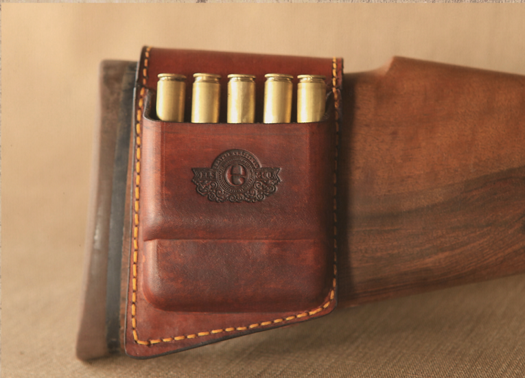 Els & Co rifle stock cartridge pouch