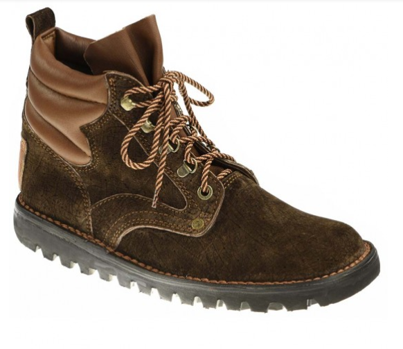 Courteney Selous Men Safari boot in brown hippo leather