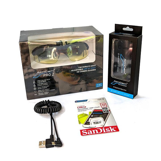 Aimcam Pro 2 bundle Shooting glasses with integrated camera