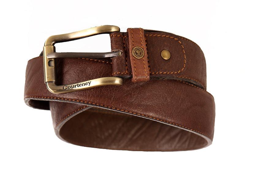 Courteney Belt in brown Buffalo leather