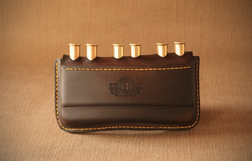 Els & Co Leather Sommerset  Cartridge Pouch for Double Rifle MAGNUM