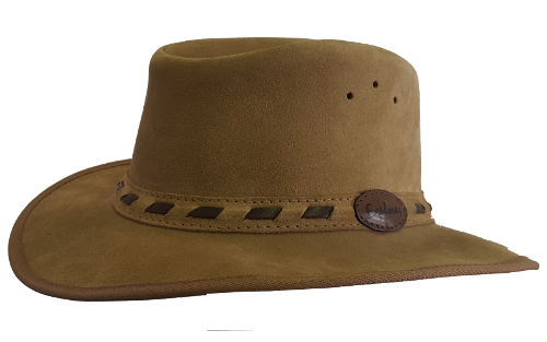 Suede Safari Hat with Flyband trim Safari Supplies