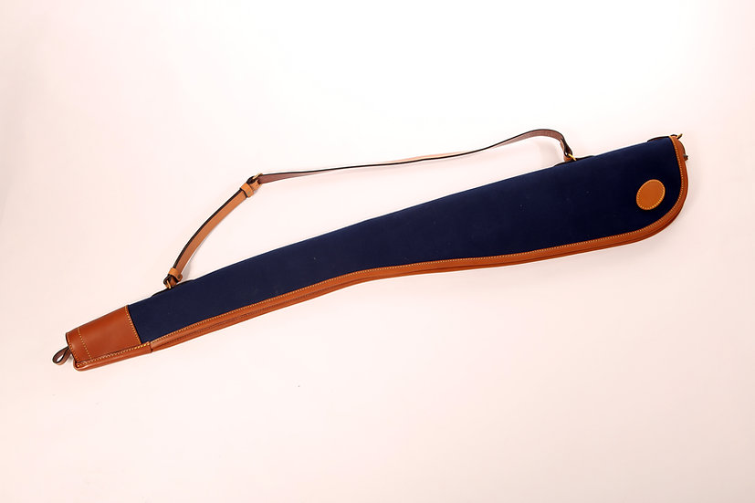 Bleu Canvas and Leather Shotgun Slip