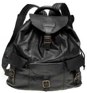 Courteney havresack in black impala leather