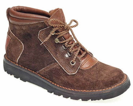 Courteney safari boot in brown hippo leather