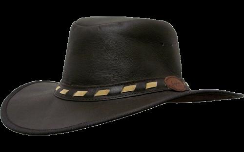 Leather Safari Hat with Fly Band - foldable - Safari Supplies
