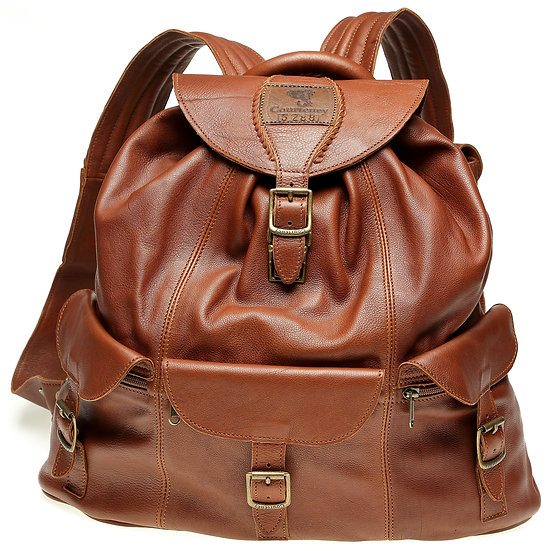 Courteney haversach in tan leather