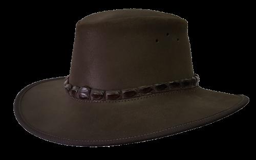 Oiled Suede Safari Hat with Croc trim - Safari Supplies
