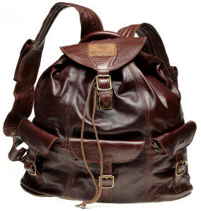 Courteney haversack in chocolate leather
