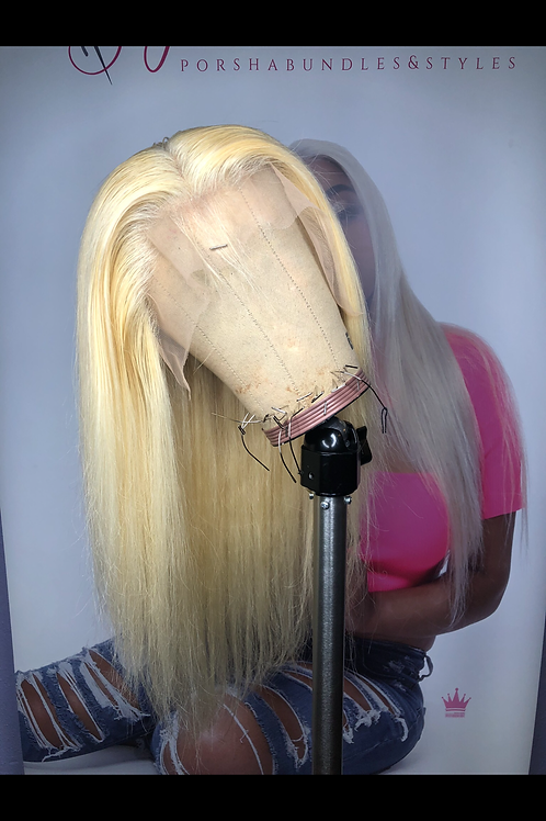 613 13*4 Platinum Blonde Frontal Wig