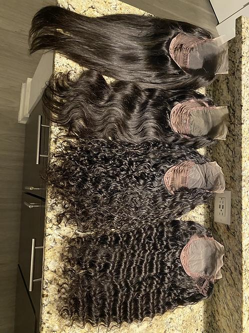 5*5 Transparent Lace Closure Wigs
