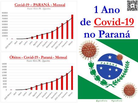 1 Ano de Covid-19 no Paraná