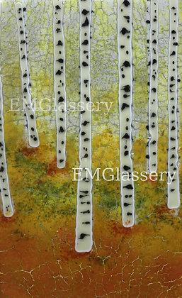Summer Aspen Trees Glass Art