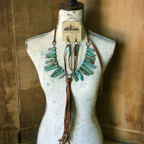 Cowgirl Statement Necklace Set~ Dreamy