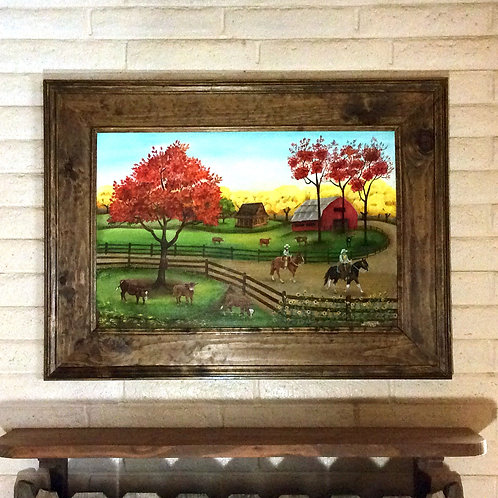 Fall Ride~ Original Painting 36X24