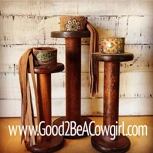 Boho Cowgirl Leather Cuff