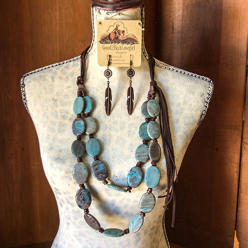 Cowgirl Statement Necklace Set~ Tahoe