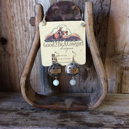 Cowgirl Earrings~ Go West