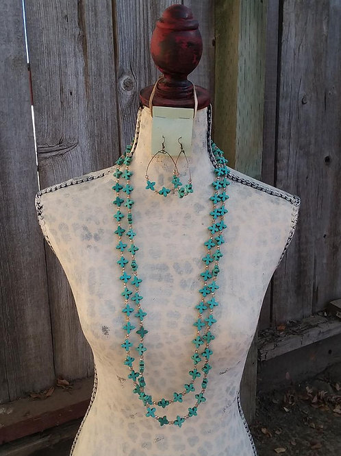Cowgirl Statement Necklace Set~ Double Crossed