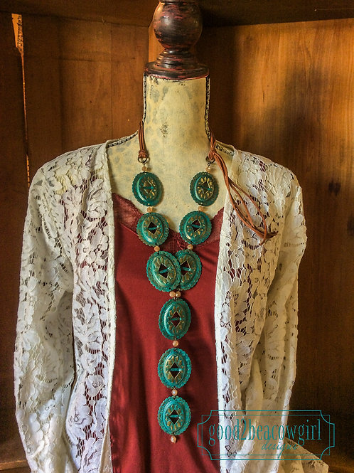 Cowgirl Concho Western Statement Necklace~ Sun Will Rise