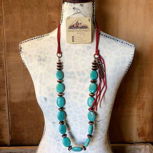 Chunky Cowgirl Layer Necklace with turquoise~ Faithful Spirit