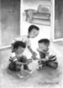 Portfolio sample~  Friends 10 yrs old 30